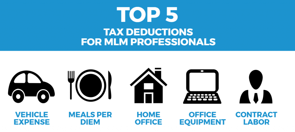 Top 5 tax deductions MLM Professionals